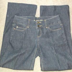 Michael Kors Dark Wash wide leg Jeans 4